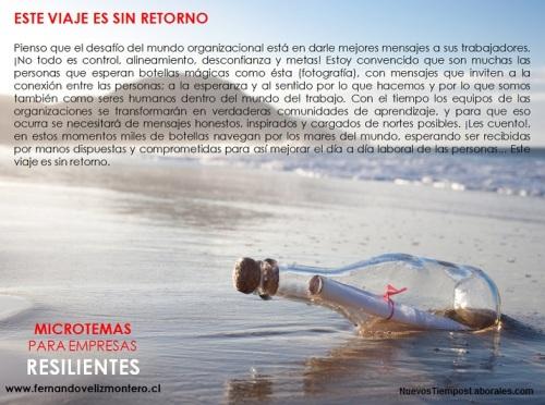 MicroTemas Empresas Resilientes - Mensaje Viaje Sin Retorno